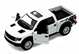 2013 Ford F-150 SVT Raptor SuperCrew Pickup Truck, White - Kinsmart 5365D - 1/46 scale Diecast Model Toy Car by Kinsmart
