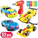 USA Toyz Race Car Take Apart Toys – 53pk Build a Car STEM Building Toys Set, Take Apart Car Building Kits for Kids w/ Car Drill Tool for Boys or Girls USA Toyz