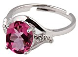 Sterling Silver and Natural Pink Topaz Gemstone Ring