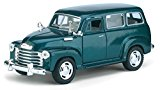 KINSMART 1:36 DISPLAY - 1950 CHEVROLET SUBURBAN CARRYALL Diecast Car Green
