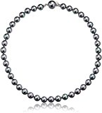 majorica 10mm gray round pearl strand necklace, 17