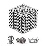 Brain Teaser - 5MM 216-Pieces Cube Toy,Multi-use Magic Sculpture Building Blocks Toy for Children Intelligence Learning & Office Toy for Stress Relief,Best Birthday Gift for Kids or Adults,Silver 13 JTianYun