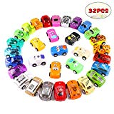 Pull Back Cars Vehicles Mini Racing Cars Friction Cars for Kids 32 Pack FittiDoll