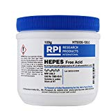 HEPES, Free Acid [N-(2-Hydroxyethyl) piperazine N'-(2-ethanesulfonic acid)], 100 Grams RPI