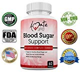 Amate Life Blood Sugar Support Supplement with Biotin, Cassia Cinnamon, Vitamin C & Vitamin E - Sugar, Glucose, Insulin & Cholesterol Control Pills - Dietary Supplement - 60 Capsules Amate Life