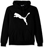 PUMA Men's Essential Fleece Big Cat Hoodie, Cotton Black, Large