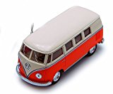 1962 Volkswagen Classical Bus, Orange - Kinsmart 5377D - 1/32 scale Diecast Model Toy Car (Brand New, but NO BOX)