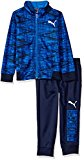 PUMA Little Boys' Two Piece Track Set, Sky Blue, 6