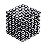JTianYun Brain Teaser,5MM 216-Pieces Cube Toy,DIY Magic Sculpture Building Blocks Toy for Children Intelligence Learning & Office Toy for Stress Relief for Kids or Adults (Nickel Black) JTianYun