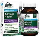 Gaia Herbs Adrenal Health Nightly Restore, Vegan Liquid Capsules, 60 Count - Calming Sleep and Stress Support, Ashwagandha, Reishi, Cordyceps, Lemon Balm Gaia Herbs