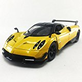 2016 Pagni Huayra BC Yellow Color Kinsmart 1:38 DieCast Model Toy Car Collectible