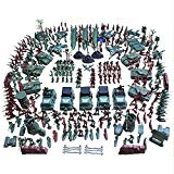3 otters Military Base Set, 307PCS Civil War Army Men Action Figures Plastic Army Men Combat Special Forces with Hand Bag Birthday for Party Favor 3 otters