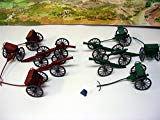 54mm Gettysburg Cannon & Limber Wagon Set (6pc ea.) (Bagged) by Americana Souvenirs Americana Souvenirs