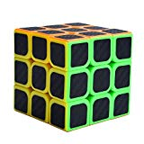 Binory 3x3 Magic Cube for Smooth Magic Rubik Cube Puzzle Toys Brain Teaser Puzzles with Carbon Fiber Binory