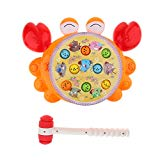 Fityle Whack The Mole Game Toy with Music & Light, Classic Board Game Fun Family Activity Toys Xmas Gift for Boys & Girls Fityle