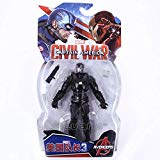 Legends Avengers Civil War Captain America Iron Man Black Widow Black Panther Scarlet Witch Ant Man PVC Action Figure Toy FAWareHouse