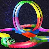 Fannel 132PCS Magic Race Tracks Car Toys for Kids Fannel