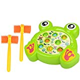 Haoun Colorful Electronic Whac-A-Mole Game Toy with Music Kid Best Toy Christmas Birthday Gift - Frog Haoun