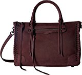 Rebecca Minkoff Women's Regan Satchel with Studs, Dark Cherry, One Size
