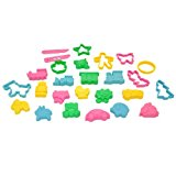 Dough Cutters -- Kids Cookie Cutters -- Play doh Clay Cutters Animals and Objects Shapes -- Assorted Colors 26 pcs -- Yazycraft