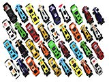 36 Pc Racing Car Toys Assorted for Kids, Boys or Girls - Free Wheeling Die Cast Metal Plastic Toy Cars Set of Great Gift、Party Favors or Cake Toppers Singer's Toy