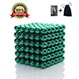 Brain Teaser,5MM 216-Pieces Cube Toy,Multi-Use Magic Sculpture Building Blocks Toy for Children Intelligence Learning & Office Toy for Stress Relief,Best Christmas Gift for Kids or Adults,Green 07 JTianYun