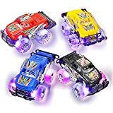 "Light Up Monster Truck set for Boys and Girls by ArtCreativity - Set Includes 2, 6"" Monster Trucks With Beautiful Flashing LED Tires - Push n Go Toy Cars Best Gift for Kids - For Ages 3+ ArtCreativity"