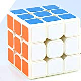 Ocamo Mini 3x3 Speedcube Brain Teaser Twist Puzzle Toy Magic Cube for for Beginner to Experienced Cubers White Ocamo