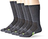 PUMA Socks Men's Crew Socks, Grey/Green, Sock Size:10-13/Shoe Size: 6-12 (Pack of 6)