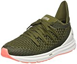 PUMA Women's Ignite Limitless Netfit Wn Sneaker, Olive Night-Nrgy Peach, 9 M US