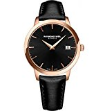 Raymond Weil Women's 'Toccata' Swiss Quartz Stainless Steel and Satin Casual Watch, Color:Black (Model: 5388-PC5-20001)