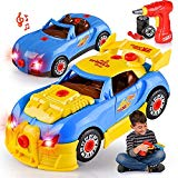 Kids' Take Apart Racing Car Toy: 30-Piece Construction Play Set for Boys & Girls| Realistic Lights & Sounds Car Assembly Toy Tool Kit | Build Your Own Car Educational Toy For Kids Aged 3+| Top Gifting HAKOL