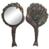 Art Nouveau Collectible Mermaid Hand Mirror Nymph Decoration by Summit Collection