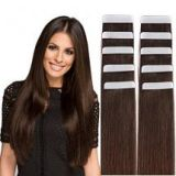 Remy Tape in Hair Extensions Human Hair Dark Brown #2 - 18