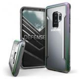 Samsung Galaxy S9 Plus Case With Aluminum Frame Shockproof Transparent - Iridescent