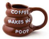 Inc Coffee Makes Me Poop Mug, Brown By BigMouth