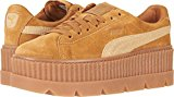 PUMA Women's Cleated Creeper Suede Golden Brown/Lark Athletic Shoe