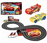 Carrera First Disney/Pixar Cars 3 - Slot Car Race Track - Includes 2 cars: Lightning McQueen and Dinoco Cruz -  Battery-Powered Beginner Racing Set for Kids Ages 3 Years and Up Carrera