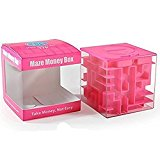 SainSmart Jr. Amaze CB-22 Cube Money Maze Bank-Unique Perfect Gifts for Kids-100% Satisfaction Guaranteed! (Pink)