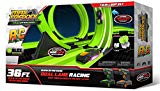 Max Traxxx R/C Tracer Racers High Speed Remote Control Twin Loop Track Set with Two Cars for Dual Racing Max Traxxx