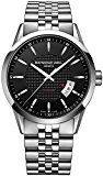 Raymond Weil Freelancer Automatic Black Dial Stainless Steel Mens Watch 2730-ST-20021