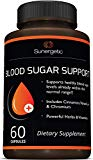 Premium Blood Sugar Support Supplement – Helps Support Healthy Blood Sugar & Glucose Levels – Includes Bitter Melon Extract, Vanadium, Chromium, Cinnamon, Alpha Lipoic Acid (60 Capsules) Sunergetic
