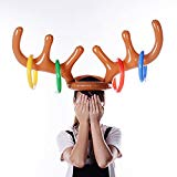 Early Intellectual Development Toys, Inflatable Reindeer Christmas Hat Antler Educational Toys Brain Teaser Toys Intellectual Imagination Learning Game Gift Toys for Kid Toddlers Baby Boys Girls chengzhijianzhu