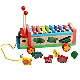 Putars Trailer Hand Knock Piano Early Childhood Educational Toys Hand Harp Boy Girl Musical Baby Toy,Wooden Puzzle, Assembly Constructor, Brain Teaser, Best DIY Toy, IQ Game for Teens Putars toy