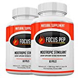 Addrena Focus Pep 2 Pack- Over The Counter Stimulants to Speed Up Naturally: Study Alternative and Best Energy Supplements for Nootropic Brain Boosting, 1207 mg, 60 Pills Addrena