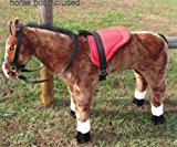 SADDLE SET FOR MELISSA AND DOUGH GIANT STANDING PLUSH HORSE AND OTHER PLUSH STUFFED ANIMALS - RED- Horse not included