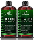 ArtNaturals Tea-Tree-Oil Shampoo and Conditioner Set - 2 x 16oz – Sulfate Free – Made with Therapeutic Grade Tea Tree Essential Oil - Deep Cleansing for Dandruff, Dry Scalp & Itchy Hair – Men & Women