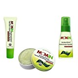 MOMiN Outdoor Shield Soothing Ointment, Bite Relief and Repellent Set Shea Butter, Lavender, Orange - 3PC