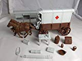 Classic Toy Soldiers, Inc Marx American Civil War Confederate Ambulance Wagon with Brown Body and Gray Tops Classic Toy Soldiers, Inc