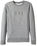 PUMA Men's Archive Embossed Logo Crewneck Sweatshirt, Medium Gray Heather, Medium